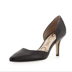 Sam Edelman Opal Mid-Heel d'Orsay Pump Black Heels